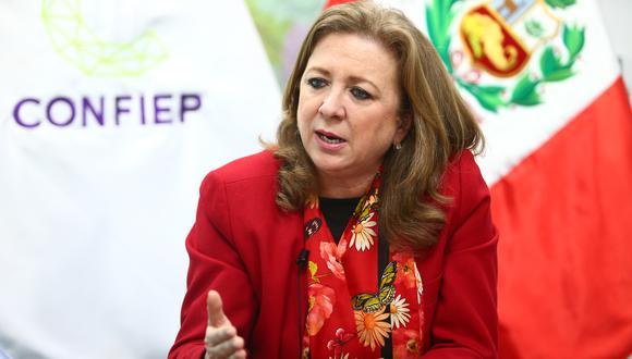 María Isabel León aseguró que la situación ocasionada por el coronavirus generará un impacto en la economía peruana que aún no es cuantificable. (Foto: Confiep)