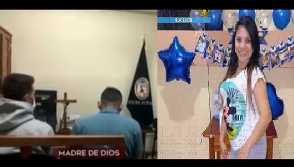 Los dos acusados de cegar la vida de la mujer embarazada iban a ser recluídos en la cárcel de Puerto Maldonado. (Fotos: Poder Judicial y difusión)