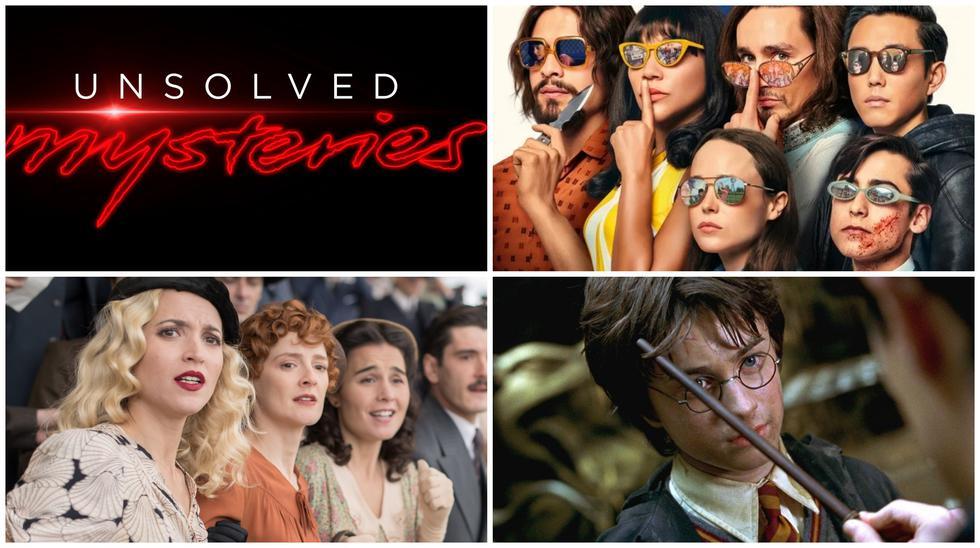 """Netflix en julio del 2020 ofrece historias como """"Misterios sin resolver"""", """"The Umbrella Academy 2"""", """"Las chicas del cable"""" temporada final y """"Harry Potter y la Cámara Secreta"""". Fotos: Difusión."""