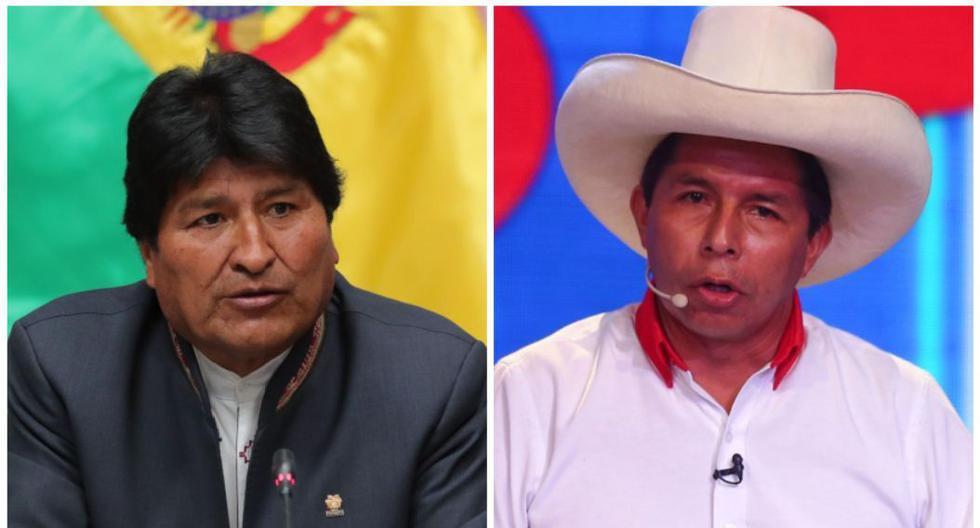 El expresidente de Bolivia, Evo Morales, expresó públicamente su respaldo a Pedro Castillo en las elecciones en el Perú. (Foto: Andina)