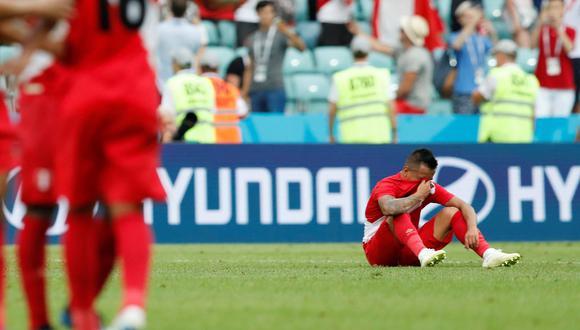Perú vs. Australia: Christian Cueva lloró desconsoladamente luego de la victoria ante Australia. (Foto: AFP)