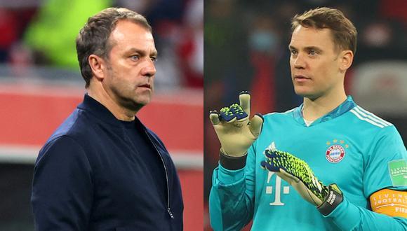 Hans-Dieter Flick, DT del Bayern y el portero Manuel Neuer elogiaron a Tigres.   Foto: AFP