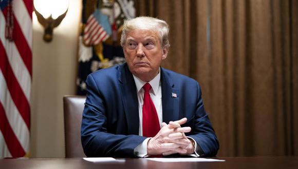 El presidente de los Estados Unidos, Donald Trump, durante una reunión con ejecutivos de atención médica en la Sala del Gabinete de la Casa Blanca en Washingto. (Foto: EFE/EPA/Doug Mills / POOL).