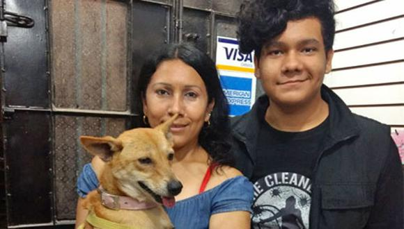 Lorena Mera Fernández y su hijo Kevin Indriago Mera aseguran que su familia no estaría completa sin Lola, de 4 años y medio de edad y aproximadamente 12 kilos de peso.