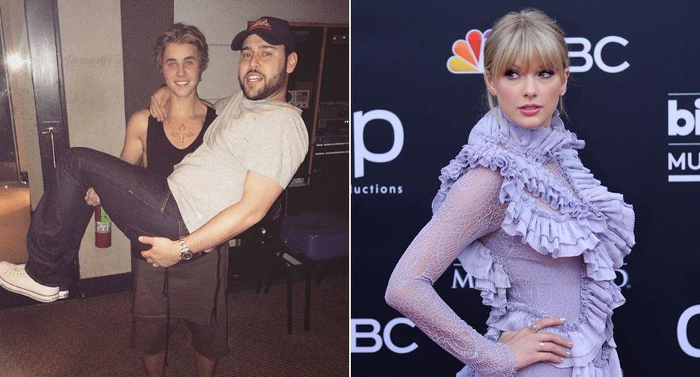 Scooter Braun vs. Taylor Swift. (Foto: Instagram/ Agencias)