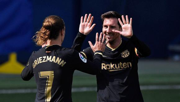 Con Messi, Griezmann y Dembélé, tridente del Barcelona supera a la delantera del Real Madrid. REUTERS/Pablo Morano