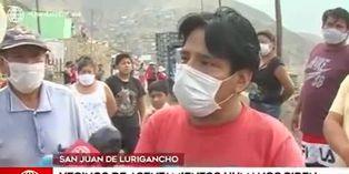 San Juan de Lurigancho: vecinos exigen canasta de víveres y bono por parte del gobierno