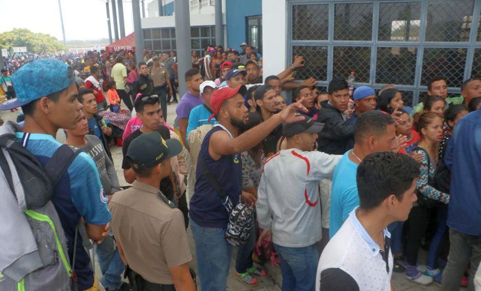 Desde el 15 de junio, el Perú les exige a los venezolanos una visa humanitaria para ingresar al país (Foto: Johnny Aurazo)