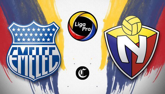 Emelec vs. El Nacional se enfrentaron en partido por la Liga Pro de Ecuador (Foto: Diseño El Comercio)