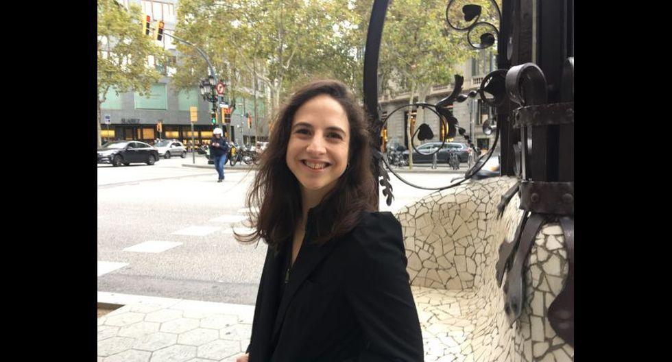 """Cristina Morales, autora de """"Lectura fácil"""" publicado por Anagrama. El libro se encuentra en el stand 105 de la Feria Internacional del Libro de Lima. (Foto: María Teresa Slanzi)"""