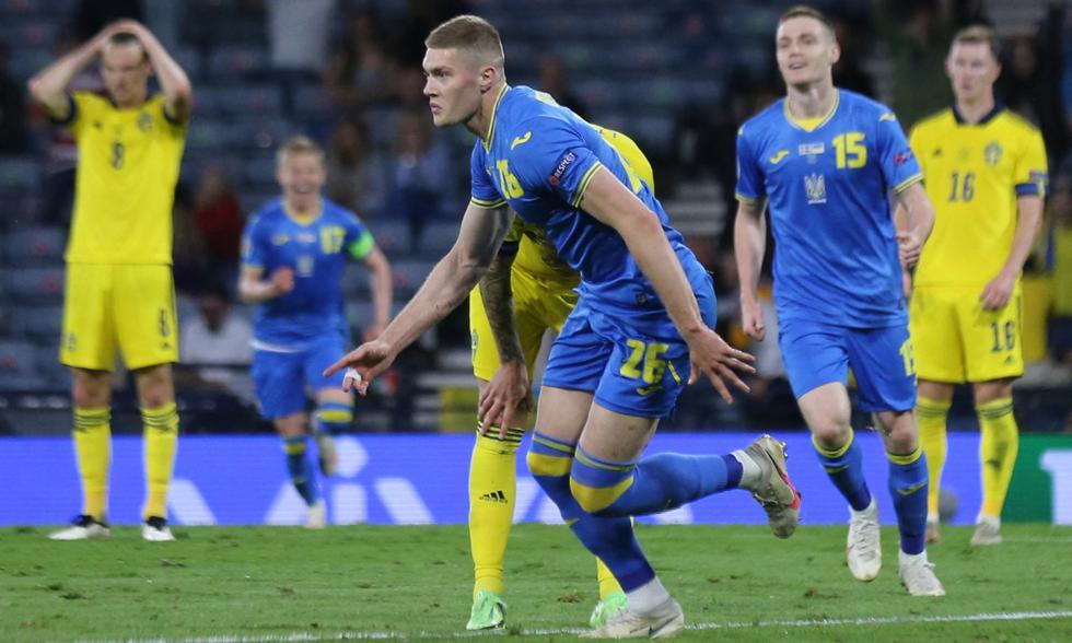Ucrania vs. Suecia chocaron por los octavos de final de la Eurocopa 2021 | Foto: AFP