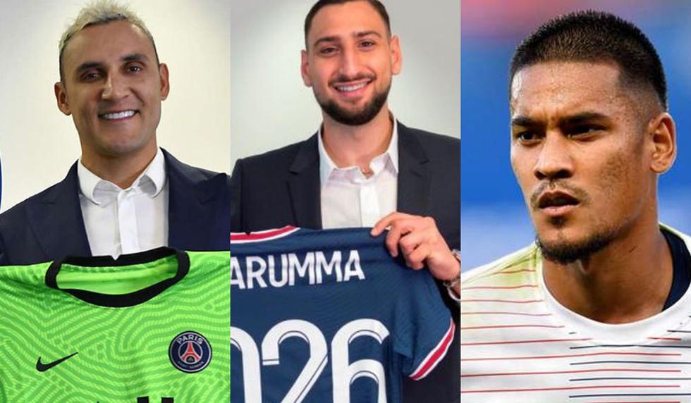 Los nueve porteros del PSG para esta temporada.