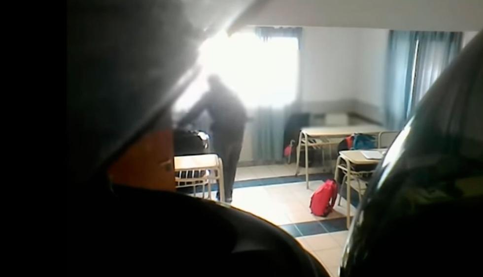 Profesor de educación física es captado robando a sus alumnos en Arrecifes. (Foto: Facebook/captura)