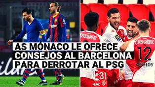"""""""Si necesitan un consejo envíenos un DM"""": Mónaco lanza polémico mensaje al Barcelona tras vencer al PSG"""