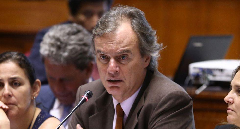 El ex ministro del Interior Carlos Basombrío estimó que hay varias denuncias en su contra en el Congreso. (Foto: Difusión)