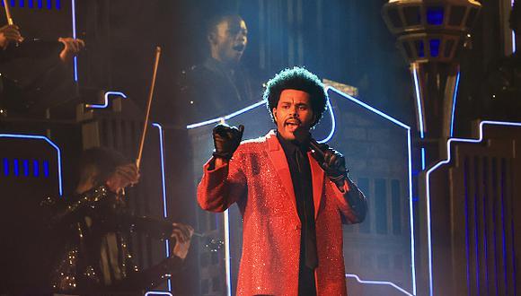 The Weeknd encabezó el show de medio tiempo del Buccaneers-Chiefs por el Super Bowl LV en Tampa (Foto: Getty Images)