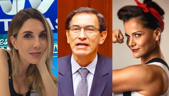 Juliana Oxenford, Mónica Sánchez, entre otras personalidades se pronuncian ante vacancia del presidente Martín Vizcarra. (Foto: @julianaoxenford.oficial/EFE/@cordeliamar_21)