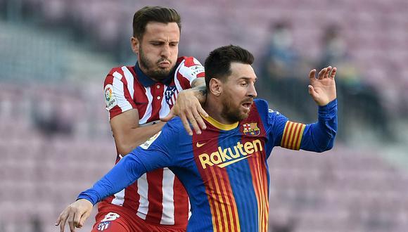 Barcelona y Atlético empataron sin goles en el Camp Nou. El resultao es favorable para el equipo colchonero que está muy cerca de conseguir el título de LaLiga. (Foto: AFP)