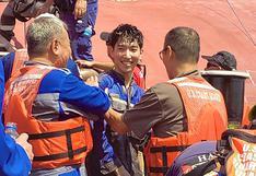 Comienza el rescate de los 4 tripulantes atrapados en un barco en la costa de Georgia