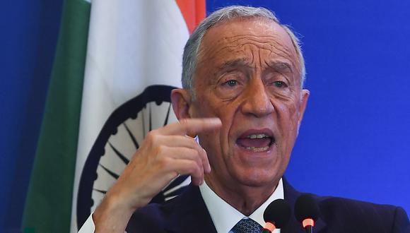 El presidente de Portugal, Marcelo Rebelo de Sousa, dio positivo por coronavirus. (Foto: Indranil MUKHERJEE / AFP)