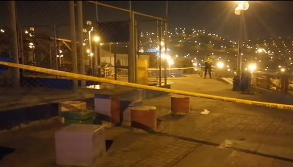 El ataque ocurrió la noche del último martes en este lugar. Los peritos de la PNP hallaron seis casquillos de bala. (Foto: PNP)