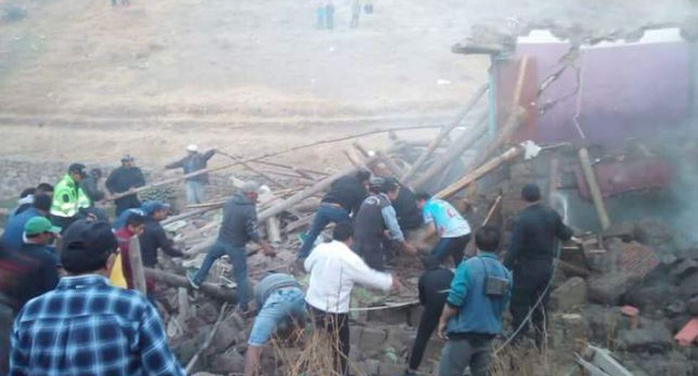 La Libertad: un muerto y un herido dejó explosión de taller de pirotecnia