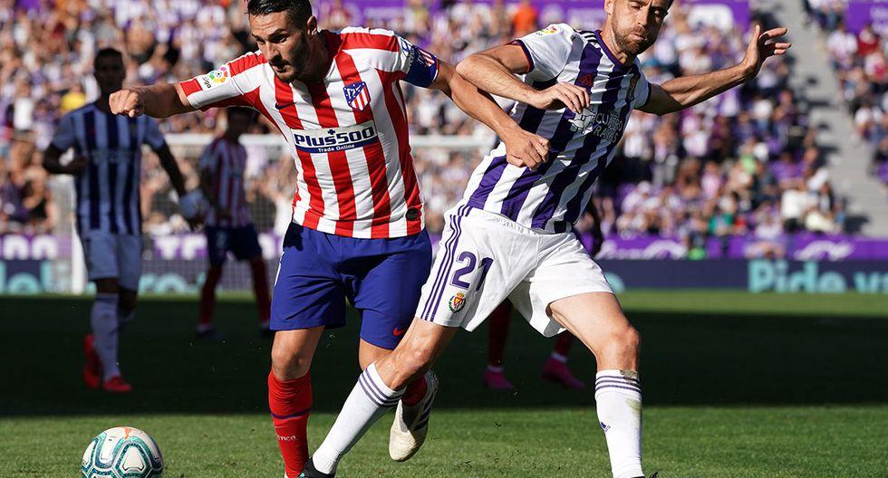 ¿Quieres saber a qué hora y en qué canal transmitirán el partido de hoy? Todos los detalles aquí del Atlético Madrid vs. Real Valladolid. (Foto: AFP)