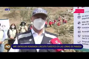 VMT: renovado circuito turístico en las Lomas de Paraíso
