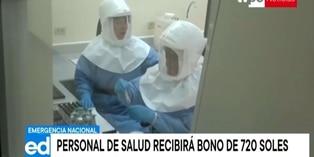 Coronavirus en Perú: equipo de salud recibirá bono de S/720
