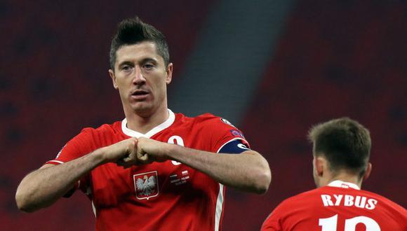 Robert Lewandowski lleva tres goles en lo que va de las Eliminatorias rumbo a Qatar 2022. (Foto: AFP)