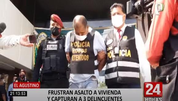 Mario de la Vega Flores, David Ríos Carrera y Almendra de la Cruz aprovecharon que la familia descansaba para poder ingresar a la vivienda, pero fueron detenidos por agentes policiales.  (Foto: captura de video)
