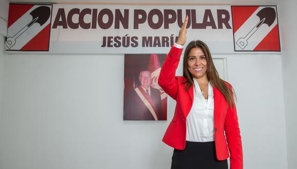 Mónica Saavedra, la congresista de Acción Popular que asumirá la presidencia de la Junta Preparatoria. (Foto: GEC)