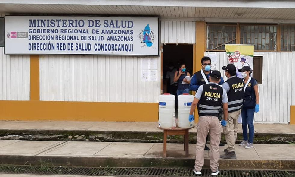 La Policía y la Fiscalía intervinieron la Red de Salud Condorcanqui, en Amazonas. (Foto: PNP)