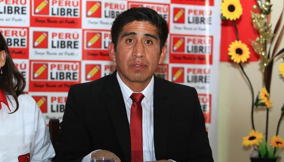 Arturo Cárdenas, dirigente de Perú Libre. Huancayo. (Fotos: Wilder Huaroc / GEC)