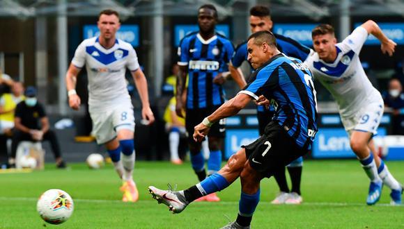 Alexis Sánchez solo continuará en Inter si es que la situación es ventajosa para el Manchester United   Foto: EFE