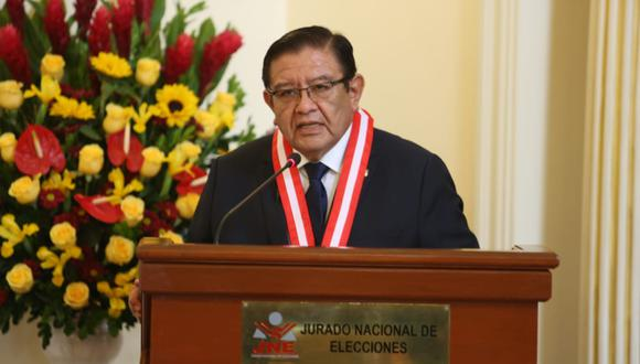Jorge Salas Arenas, presidente del JNE, pidió a partidos no esperar el último momento para presentar listas de candidatos (Foto: JNE)