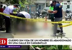 Carabayllo: Cuerpo sin vida es dejado en plena pista