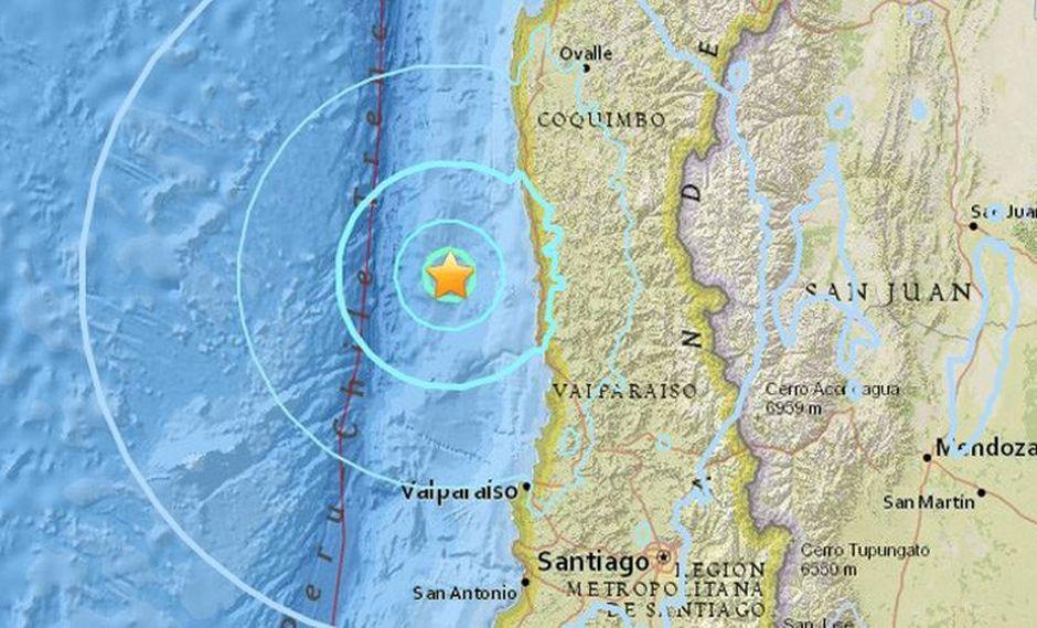 En la región metropolitana de Santiago el sismo tuvo una intensidad leve de magnitud 3 en la escala Richter.   Foto: Captura