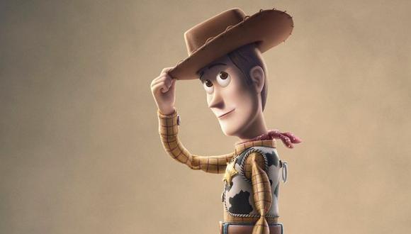 """""""Toy Story 4"""". Detalle del póster de la cinta con un Woody (Tom Hanks) de mirada distante. Foto: Disney/ Pixar."""