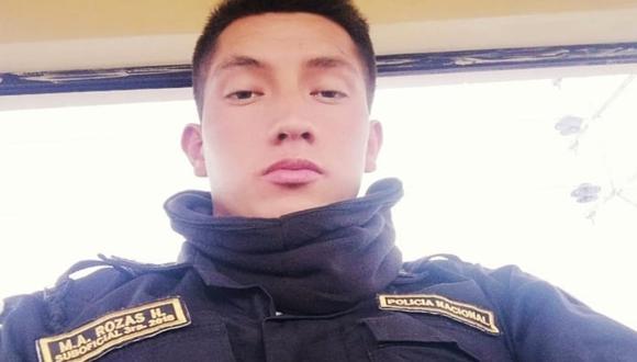 El SO3 PNP Miguel Angel Rozas Huamanñahui (25) fue hallado muerto con un balazo en el tórax. (Foto Facebook)