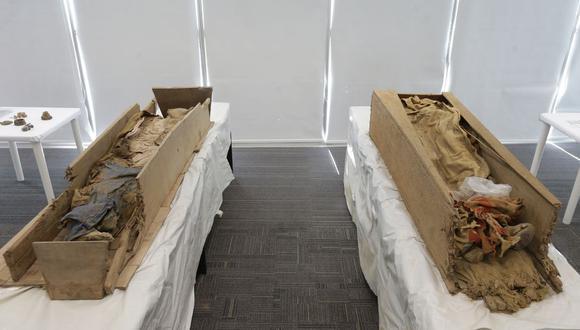 En febrero de 2018, trabajadores de Cálidda hallaron tumbas con tres cuerpos momificados en Carabayllo. (Anthony Niño de Guzmán / El Comercio)