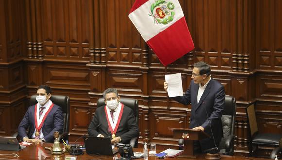 Con 32 votos a favor, 78 en contra y 15 abstenciones, el pleno del Congreso rechazó, el 18 de setiembre, la moción de vacancia contra el presidente Vizcarra por el Caso Swing. (Foto: Presidencia de la República)
