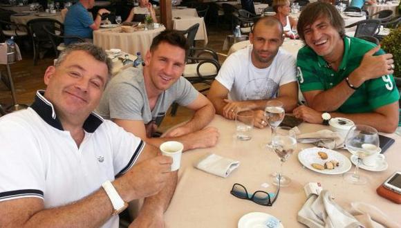 Messi y Mascherano almorzaron con Humberto Grondona en España