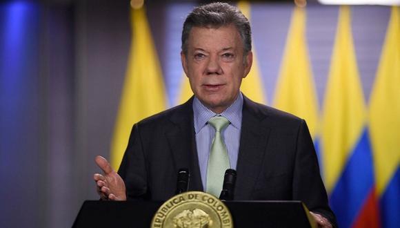 Santos, que fue presidente de 2010 a 2018 y ganador del Premio Nobel de Paz de 2016, se expresó a través de su red social Twitter. (Foto: EFE)
