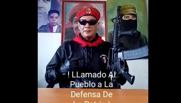 Valentín Santana: Jefe del principal colectivo chavista llamó a defender a Nicolás Maduro con armas. Foto: Captura de video