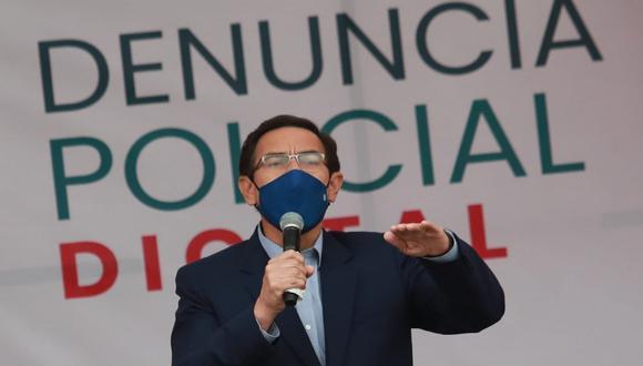 El presidente Martín Vizcarra instó a la ciudadanía a cumplir medidas para evitar una segunda ola de coronavirus. (Foto: Lino Chipana / @photo.gec)