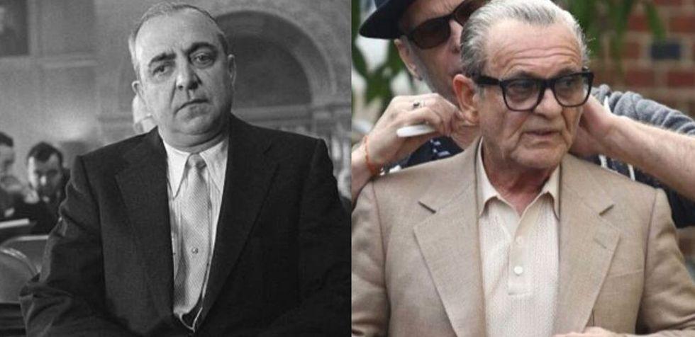 """El capo de la mafia siciliana Russell Bufalino es interpretado en """"The Irishman"""" por un notable Joe Pesci."""