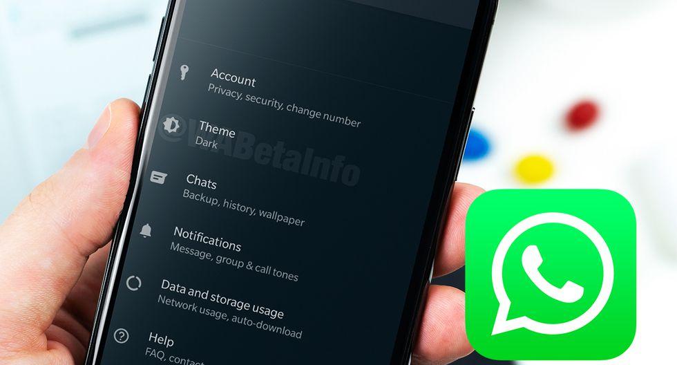 """¿Estás esperando que se active el """"modo oscuro"""" de WhatsApp? El Dark Theme llega a la versión beta. (Foto: WABeta Info)"""