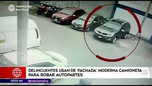 Centro de Lima: maleantes usan vehículo moderno para robar autopartes