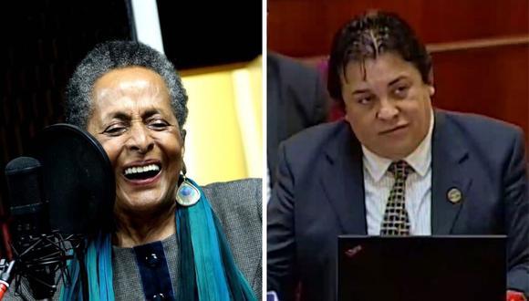 Richard Swing afirmó ayer en el Congreso que Susaba Baca no contaba con estudios profesionales y fue ministra de Cultura. (@susana_baca / Captura de pantalla).